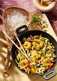 Gemüsecurry mit Gambas