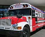 Roter Infosbus