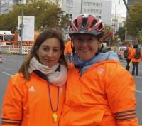 Helferinnen beim Berlin-Marathon