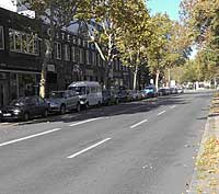 Autofreie Straße in Berlin