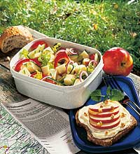 Picknickrezept Brotzeit mit Käse