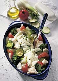 Gemüse-Fisch-Auflauf mit Käse
