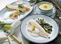Karfreitagsmenü Fischfilet auf Mangold