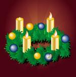 Adventskranz mit 3 Kerzen