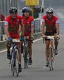 Fahrer bei Bike and Win