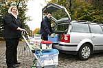 Auto packen für die mobile Diabetes-Schulung