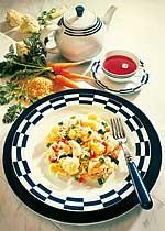 Gemüsereis mit Rotbarsch