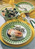 Karfreitagsmenü mit Lachs und Reis