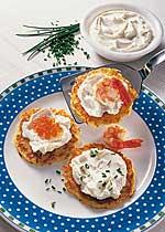 Kartoffelpuffer mit Kräuter-Creme