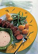 Lammfilet mit Kartoffeln und Tzatziki