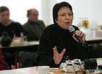 DiabSite-Redakteurin Helga Uphoff auf der Pressekonferenz