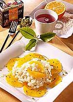 Orangen-Milchreis mit Pistazien
