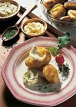 Pellkartoffeln mit Gourmet-Dip