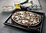 Pizza mit Auberginen
