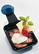 Raclette mit Filet und Ananas