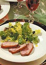 Salat mit gebratener Entenbrust