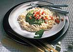 Spaghettini mit Bohnenpüree