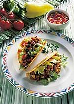 Tacos mit Fleischfüllung