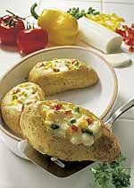 Überbackene Kartoffeln mit Mozzarella