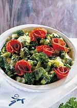 Überbackener Brokkoli mit Salami