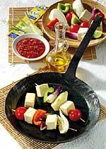 Vegetarischer Grillspieß mit Tofu