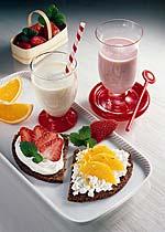 Vitaminbrote mit Erdbeer-Shake